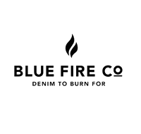 blue fire Co Denim to burn for